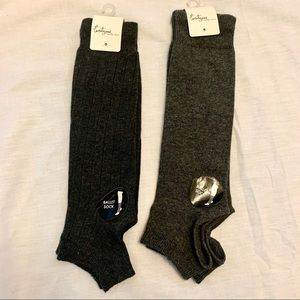 NWT - 2 pair of Ballet Socks, Gray and Dark Gray